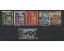 1923 - TRIPOLITANIA - MARCIA SU ROMA 6v. - USATI - LOTTO/2720U