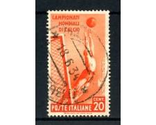 1934 - REGNO - 20 LIRE MONDIALI DI CALCIO - USATO - LOTTO/REG359U