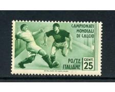 1934 - REGNO - 25 cent. MONDIALI DI CALCIO - LINGUELLATO - LOTTO/REG360L