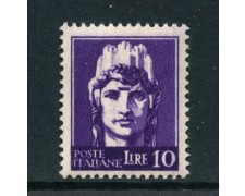 1945 - LUOGOTENENZA - 10 LIRE FILIGRANA RUOTA ALATA NUOVO - LOTTO/30202