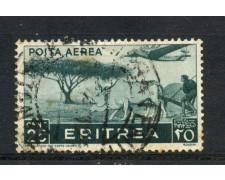 1936 - ERITREA - 25c. POSTA AEREA - USATO - LOTTO/ERITA17U