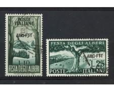 1951 - TRIESTE A - FESTA DEGLI ALBERI 2v. - USATI - LOTTO/15839