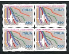1986 - LOTTO/6857Q - REPUBBLICA - MEZZI DI COMUNICAZIONE - QUARTINA NUOVI .