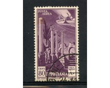 1931/32 - TRIPOLITANIA - 80c. POSTA AEREA - USATO - LOTTO/30235