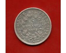 1873 - FRANCIA - 5 FRANCHI ARGENTO - LOTTO/M30182