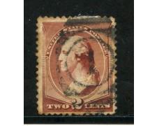 1883 - STATI UNITI - 2 cent. ROSSO BRUNO WASHINGTON USATO - LOTTO/28998C