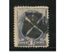 1887/88 - STATI UNITI - 1 cent. BLU E GRIGIO - USATO - LOTTO/28999