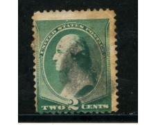 1887/88 - STATI UNITI - 2 cent. VERDE - USATO - LOTTO/29000