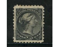 1870/93 - CANADA - 1/2 cent. NERO - USATO - LOTTO/29080