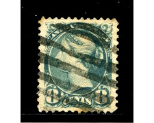1870/93 - CANADA - 8 cent. BLU VERDE - USATO - LOTTO/29089
