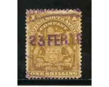 1898/908 - SUD AFRICA INGLESE - 1s.  BISTRO STEMMA - USATO - LOTTO/29102