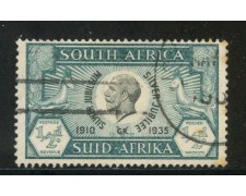 1935 - SUD AFRICA INGLESE - 1/2p. VERDE GIORGIO V° - USATO - LOTTO/29105