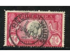 1935 - SUD AFRICA INGLESE - 1p. ROSSO  GIORGIO V° - USATO - LOTTO/29106