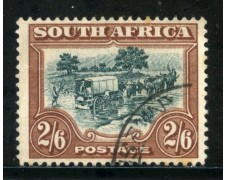 1930/36 - SUD AFRICA INGLESE - 2/6s. MARRONE E VERDE - USATO - LOTTO/29109