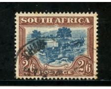 1943/45 - SUD AFRICA INGLESE - 2/6. BRUNO E BLU - USATO - LOTTO/29111