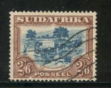 1943/45 - SUD AFRICA INGLESE - 2/6. BRUNO E BLU - USATO - LOTTO/29112