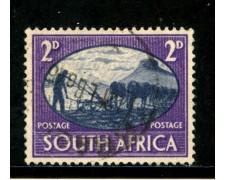 1946 - SUD AFRICA INGLESE - 2p. VIOLETTO PACE - USATO - LOTTO/29113