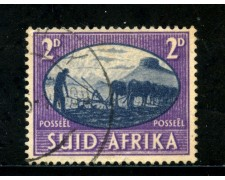 1946 - SUD AFRICA INGLESE - 2p. VIOLETTO PACE - USATO - LOTTO/29114