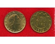 1998 - REPUBBLICA - 200 LIRE LAVORO - FIOR DI CONIO - LOTTO/M29164