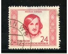 1952 - GERMANIA DDR - 24p. N.GOGOL - USATO - LOTTO/29192