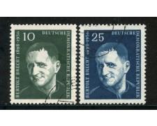 1957 - GERMANIA DDR - BERTOLT BRECHT 2v.  - USATI - LOTTO/29193