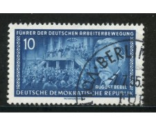1955 - GERMANIA DDR - 10p. BEBEL - USATO - LOTTO/29195