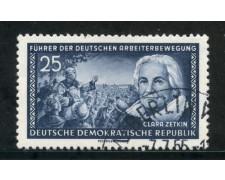 1955 - GERMANIA DDR - 25p. C. ZETKIN - USATO - LOTTO/29196