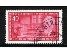 1955 - GERMANIA DDR - 40p. W. LIEBKNECHT - USATO - LOTTO/29197
