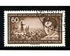 1955 - GERMANIA DDR - 60p. R.LUXEMBURG - USATO - LOTTO/29198