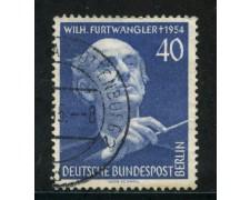 1955 - BERLINO - 40p. FESTIVAL DELLA MUSICA - USATO - LOTTO/29219