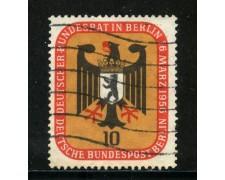 1956 - BERLINO - 10p. CONSIGLIO FEDERALE - USATO - LOTTO/29220