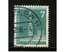 1956/63 - BERLINO - 7p. TORRE RADIO BERLINO - USATO - LOTTO/29223