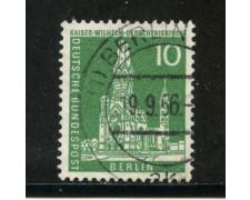 1956/63 - BERLINO - 10p. CHIESA IMP. GUGLIELMO - USATO - LOTTO/29224