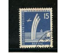 1956/63 - BERLINO - 15p. PONTE AEREO - USATO - LOTTO/29225