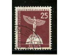 1956/63 - BERLINO - 25p. LILIENTHAL - USATO - LOTTO/29227