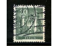 1956/63 - BERLINO - 30p. ISOLA DEI PAVONI - USATO - LOTTO/29228