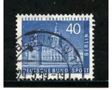1956/63 - BERLINO - 30p. CHARLOTTEMBURG - USATO - LOTTO/29229