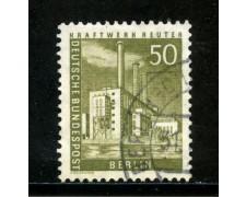 1956/63 - BERLINO - 50p. OFFICINE REUTER - USATO - LOTTO/29230