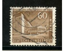 1956/63 - BERLINO - 60p. CAMERA DI COMMERCIO - USATO - LOTTO/29231