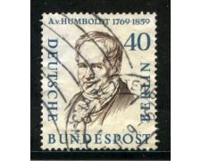 1957/59 - BERLINO - 40p. HUMBOLDT - USATO - LOTTO/29235