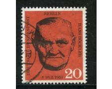 1961 - BERLINO - 20p. HANS BOCKLER - USATO - LOTTO/29236