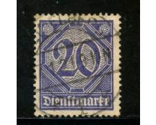 1920/21 - GERMANIA REICH SERVIZI - 20p. VIOLETTO - USATO - LOTTO/29241