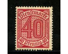 1920/21 - GERMANIA REICH SERVIZI - 40p. ROSSO - NUOVO - LOTTO/29243