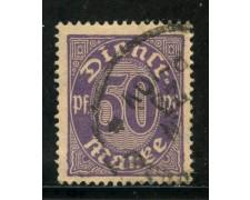 1920/21 - GERMANIA REICH SERVIZI - 50p. VIOLETTO - USATO - LOTTO/29244