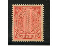 1920/21 - GERMANIA REICH SERVIZI - 1m. VERMIGLIO - NUOVO - LOTTO/29245
