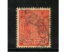 1920/21 - GERMANIA REICH SERVIZI - 1m. VERMIGLIO - USATO - LOTTO/29245U