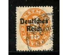 1920 - GERMANIA REICH SERVIZI - 10p. ARANCIO - USATO - LOTTO/29249