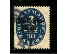 1920 - GERMANIA REICH SERVIZI - 30p. OLTREMARE - USATO - LOTTO/29251