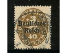 1920 - GERMANIA REICH SERVIZI - 40p. BRUNO - USATO - LOTTO/29252