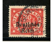 1920 - GERMANIA REICH SERVIZI - 50p. VERMIGLIO - USATO - LOTTO/29253